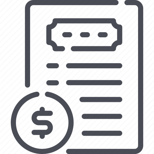 concept, drawn, money, paper, plan, planning, strategy icon