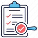 approved, backlog, checklist, control, quality, quality control icon