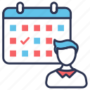 appointment, date, day, meeting, personal, schedule, time icon