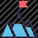 achievement, flag, goal, mission, success icon