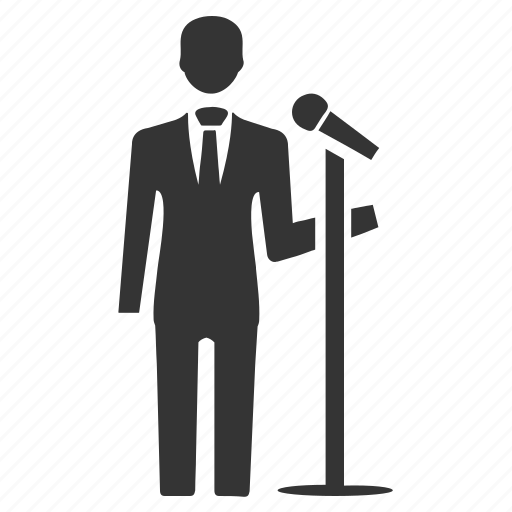 lecture, microphone, politician, seminar, speech icon