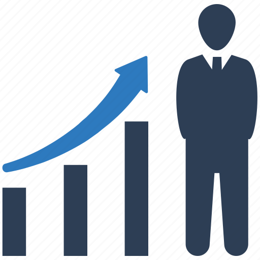 business promotion, presentation, profit icon