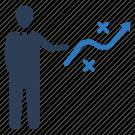 business plan, presentation, training icon