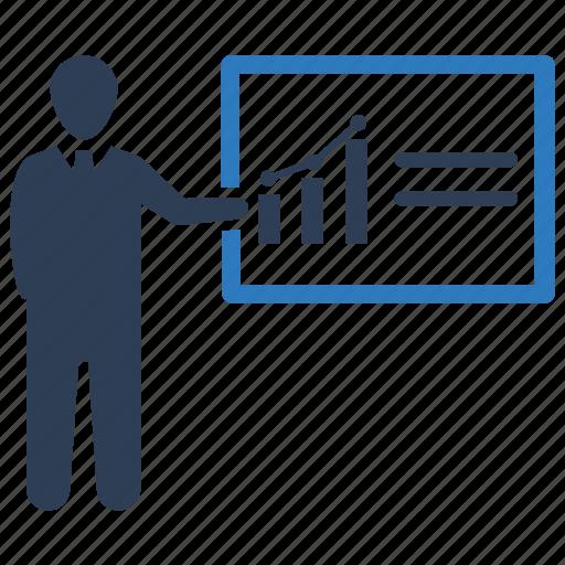presentation, strategy, training icon