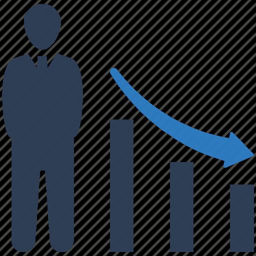 business loss, chart, financial loss icon