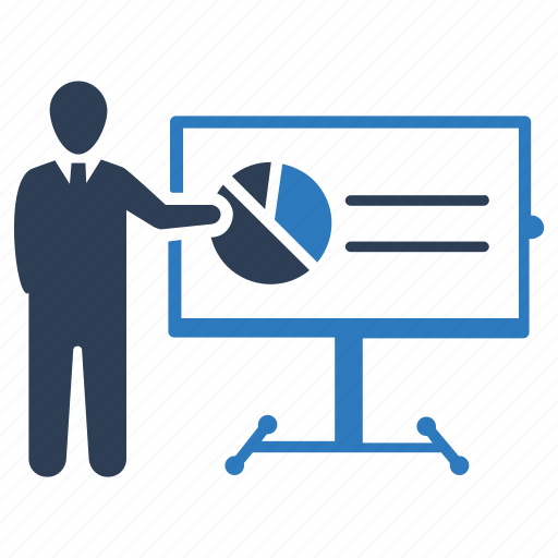business chart, conference, presentation icon