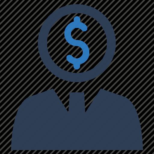 financial advisor, financial support, salesman icon