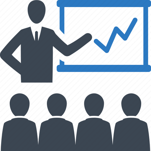 business meeting, businessman, presentation, teamwork icon