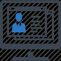 cv, employment, job search, resume icon
