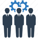 business planning, efficiency, gear, strategy, teamwork icon
