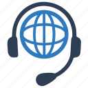 global, help, online support, support icon