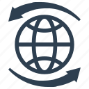 connection, global communication, global network, globe, network icon
