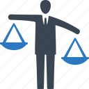 businessman, choice, decision, scale icon