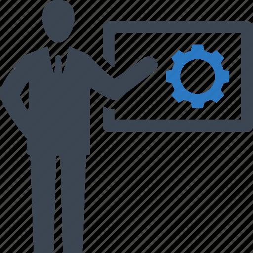 Businessman, presentation, strategy icon - Download on Iconfinder