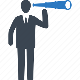 aspirations, opportunity, spyglass icon