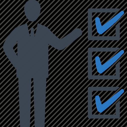 Businessman, checklist, tasks icon - Download on Iconfinder