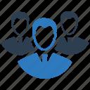 business, leadership team, team leader, teamwork, users icon