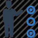 businessman, checklist, choice, selection, tasks icon