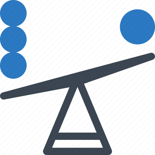 balance, decision, seesaw icon