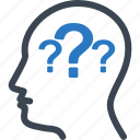 head, question, thinking icon