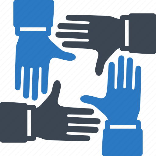 hands, team, teamwork, together icon