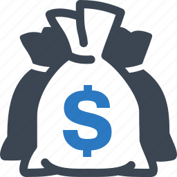 finance, investment, money bag icon