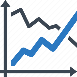 business growth, graph, progress, sales icon