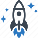 startup, spaceship, rocket icon