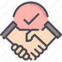 agreement, business, contract, deal, handshake, partnership, shake icon