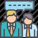 bubble, business, communication, conversation, discussion, speak, speech icon