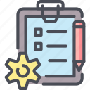 checklist, clipboard, manage, management, plan, task, work icon