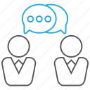 business, colleague, conversation, discuss, discussion icon