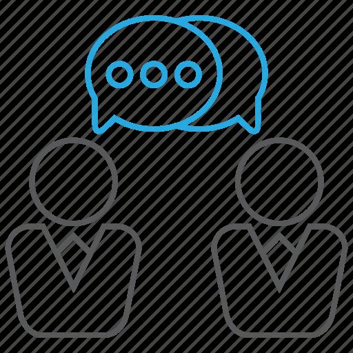 business, colleague, conversation, discuss, discussion icon
