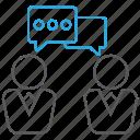 business, chat, colleague, communication, conversation icon