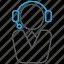 call center, customer service, help, support, technician icon