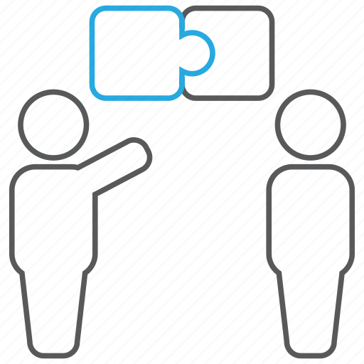 business, communication, contribution, idea, puzzle, solution icon