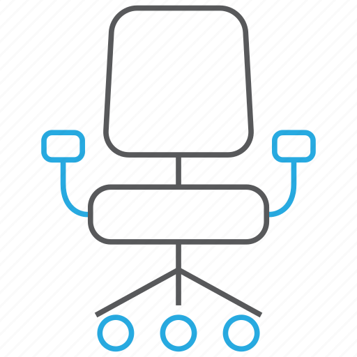chair, office, seat, swivel chair icon