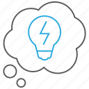 creativity, idea, innovation, thinking, thought icon