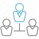 business, hierarchy, leader, manager, organization icon