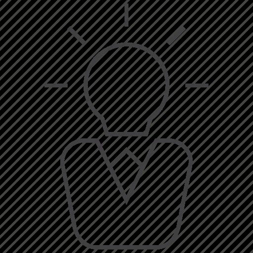 bulb, creative, creativity, idea, intellectual, light, smart icon