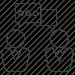 chat, communicate, conversation, debate, discussion, speech, talk icon