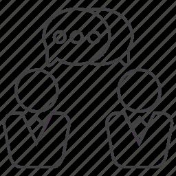 bubble, chat, communication, discuss, message, talk icon