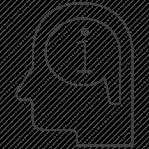 brain, data, help, idea, info, information, think icon