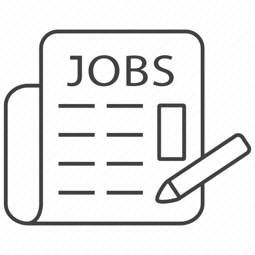 ads, advertise, job, jobs, news, newspaper, vacancy icon