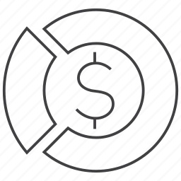 chart, customer, market, money, pie, profit, turnover icon