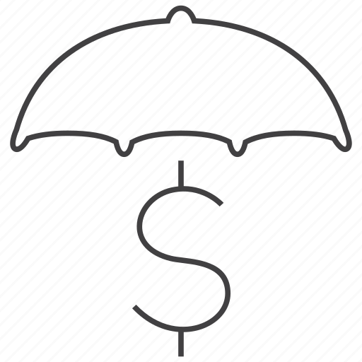business, cash, finance, money, payment, secure, umbrella icon