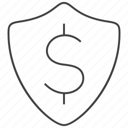finance, money, protection, secure, security, shield icon