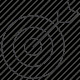 aim, archer, arrow, arrows, bullseye, goal, target icon