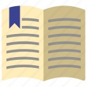 book, note book, open, reading icon icon