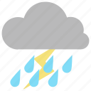 rain, rainy, storm, thunder, weather icon icon